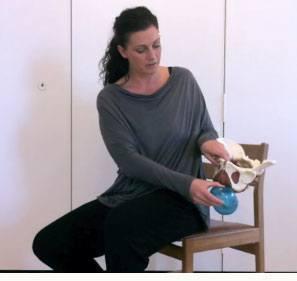 Bækkenbundsøvelser med mini roll