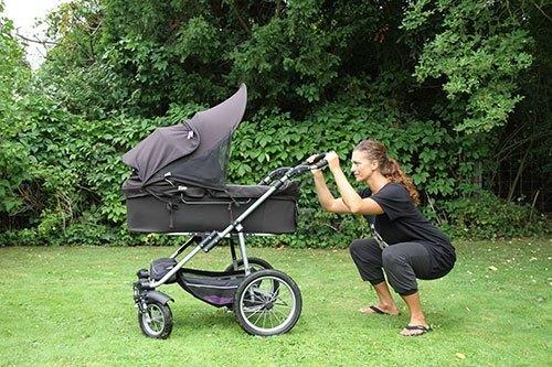 Øvelser efter fødsel med barnevognen